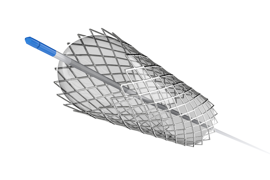 3d rendering stent or catheter for balloon angioplasty